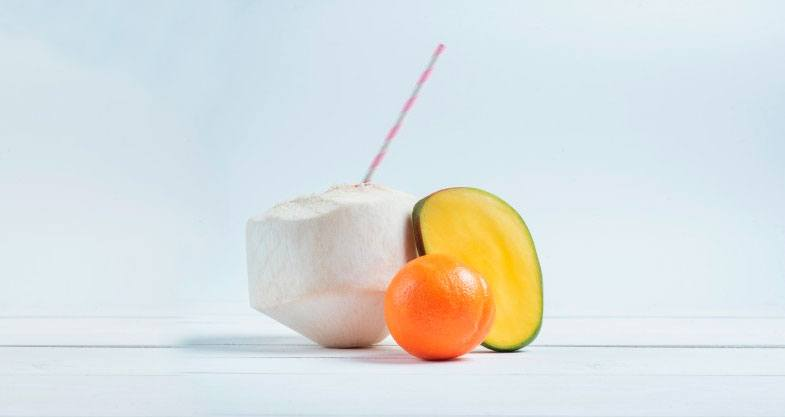 batido de mandarina y mango