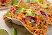 tacos de yaca. receta vegana