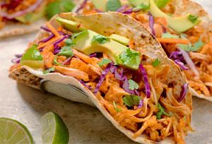 tacos de yaca, receta de jaca vegetarianos
