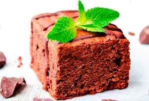 Brownie de castañas, receta dulce de otoño