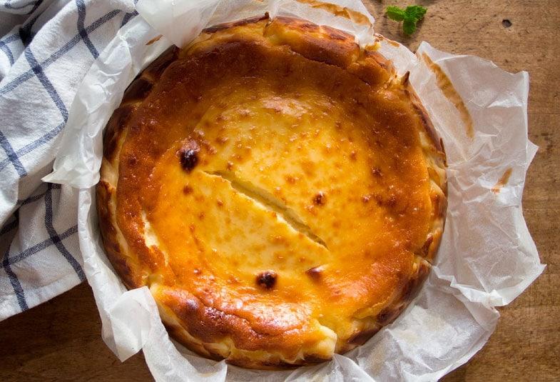 Tarta de queso y chirimoya: Receta
