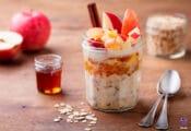 Avena con manzana, canela y miel, receta