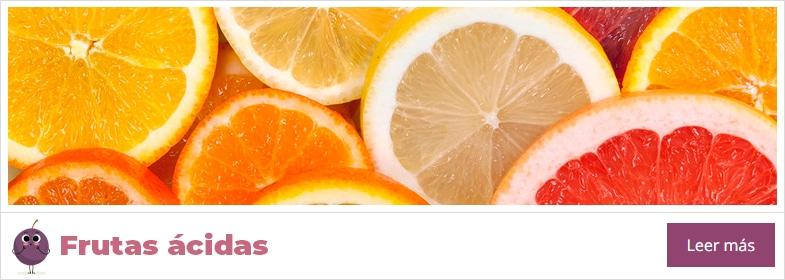 lista de frutas ácidas