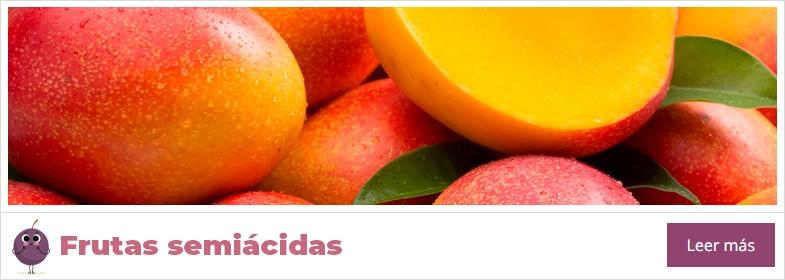 lista de frutas semiácidas